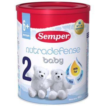 Молочная смесь SemperМолочная смесь Semper Nutradefense Baby 2 с 6 мес. 400 г, возраст 3 ступень (6-12 мес). Проконсультируйтесь со специалистом. Для детей с 6 месяцев<br><br>Возраст: 3 ступень (6-12 мес)
