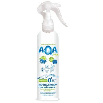 Спрей антибактериальный Aqa BabyСпрей антибактериальный Aqa Baby для очищения всех поверхностей в детской комнате 300 мл<br>