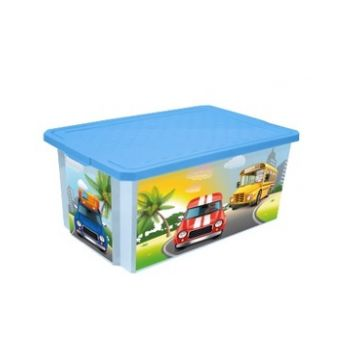 Ящик для хранения игрушек ToyMartЯщик для хранения игрушек ToyMart X-BOX Sity Cars 12л. 1026LA-BS<br>