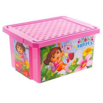 Ящик для хранения игрушек ToyMartЯщик для хранения игрушек ToyMart X-BOX Даша Путешественница 17л. 0023LA-DE<br>
