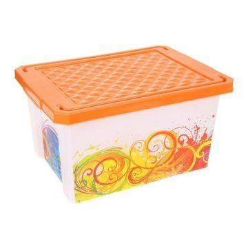 Ящик для хранения ToyMartЯщик для хранения ToyMart Optima Брызги 17л. 2584BQ<br>