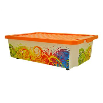 Ящик для хранения ToyMartЯщик для хранения ToyMart Optima Брызги 30л. 2585BQ<br>