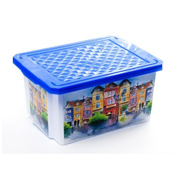 Ящик для хранения ToyMartЯщик для хранения ToyMart Optima Город 17л. 2584BQ<br>