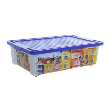 Ящик для хранения ToyMartЯщик для хранения ToyMart Optima Город 30л. 2585BQ-ГР<br>