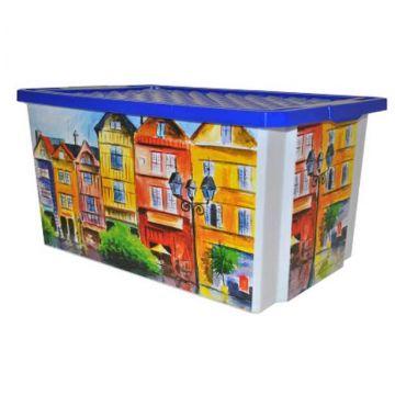 Ящик для хранения ToyMartЯщик для хранения ToyMart Optima Город 57л. 2586BQ-ГР<br>