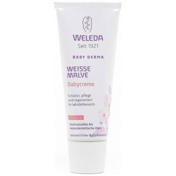 Крем детский для гиперчувствительной кожи WeledaКрем детский для гиперчувствительной кожи Weleda в области пеленания с алтеем 50 мл<br>