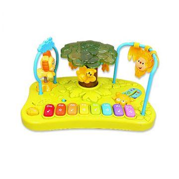 Игрушка музыкальная R-CareИгрушка музыкальная R-Care Пианино Весёлые джунгли 822-310/Т-М, возраст от 6 месяцев<br><br>Возраст: от 6 месяцев
