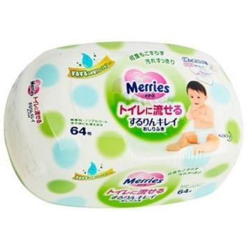 Влажные салфетки для детей MerriesВлажные салфетки для детей Merries (зеленые) контейнер 64 шт, в упаковке 64 шт.<br><br>Штук в упаковке: 64