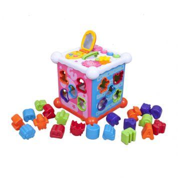 Игрушка музыкальная R-CareИгрушка музыкальная R-Care Куб - сортёр на английском языке 822-38/Т-М, возраст от 1 года<br><br>Возраст: от 1 года