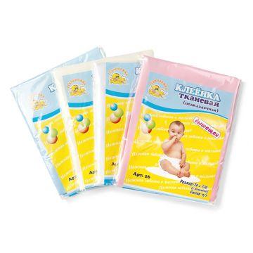 Клеёнка детская ToyMartКлеёнка детская ToyMart тканевая с резинкой дышащая70х120 белый 16/Т-М<br>