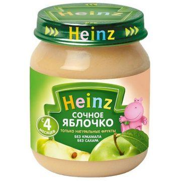 Детское пюре HeinzДетское пюре Heinz сочное яблочко с 4 мес. 120 г, возраст 2 ступень (3-6 мес). Проконсультируйтесь со специалистом. Для детей с 4 мес.<br><br>Возраст: 2 ступень (3-6 мес)
