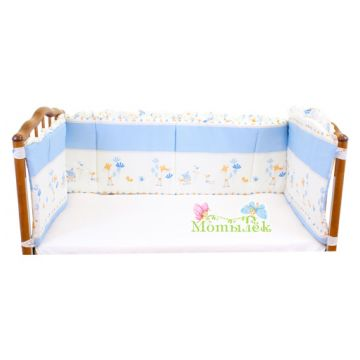 Бампер в кроватку ToyMartБампер в кроватку ToyMart высокий голубой К-Б3/Т-М<br>