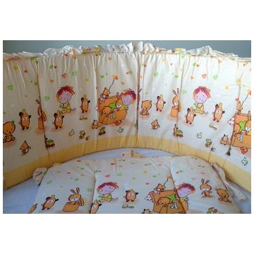 Бампер в кроватку ToyMartБампер в кроватку ToyMart высокий бежевый К-Б3/Т-М<br>