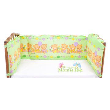 Бампер в кроватку ToyMart высокий зеленый К-Б3