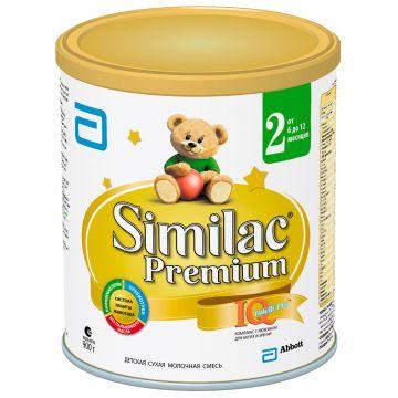 Молочная смесь SimilacМолочная смесь Similac 2 Premium 6-12 мес. 900 г, возраст 3 ступень (6-12 мес). Проконсультируйтесь со специалистом. Для детей 6-12 мес.<br><br>Возраст: 3 ступень (6-12 мес)