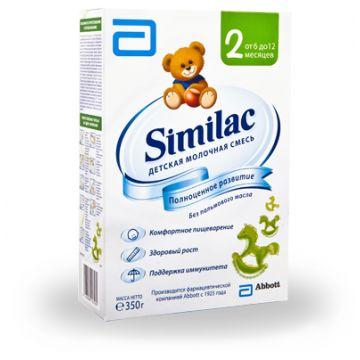 Молочная смесь SimilacМолочная смесь Similac 2 6-12 мес. 350 г (карт. пачка), возраст 3 ступень (6-12 мес). Проконсультируйтесь со специалистом. Для детей 6-12 мес.<br><br>Возраст: 3 ступень (6-12 мес)