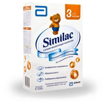 Молочная смесь SimilacМолочная смесь Similac 3 с 12 мес. 350 г (карт. пачка), возраст 4 ступень (&gt;12 мес). Проконсультируйтесь со специалистом. Для детей с 12 мес.<br><br>Возраст: 4 ступень (&gt;12 мес)