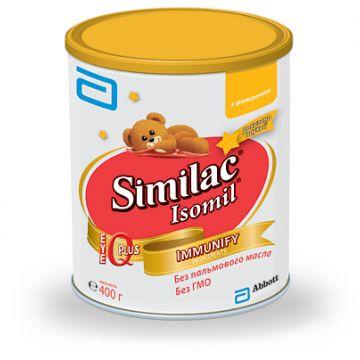 Лечебная смесь SimilacЛечебная смесь Similac Isomil на основе изолята белков сои 0-12 мес. 400 г. Проконсультируйтесь со специалистом. Для детей с 0 до 12 месяцев<br>