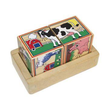Игрушка кубики Melissa and DougИгрушка кубики Melissa and Doug Звуковые пазлы Ферма 1196, возраст от 2 лет<br><br>Возраст: от 2 лет