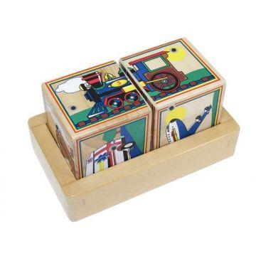 Игрушка кубики Melissa and DougИгрушка кубики Melissa and Doug Звуковые пазлы Транспорт 1272, возраст от 2 лет<br><br>Возраст: от 2 лет