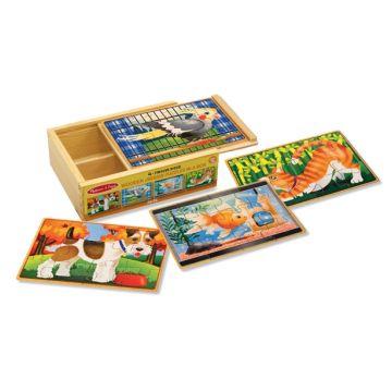 Деревянные пазл Melissa and Doug в коробке Домашние животные 3790