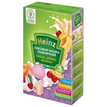 Каша HeinzКаша Heinz Лакомая пшеничная персик абрикос вишенка 1 ступень 200 г, возраст 3 ступень (6-12 мес). Проконсультируйтесь со специалистом. Для детей  с 0 месяцев<br><br>Возраст: 3 ступень (6-12 мес)