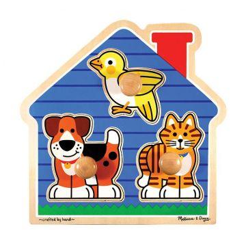 Развивающая игрушка Melissa and Doug Мои первые пазлы Домик с животными (3 эл.) 2055