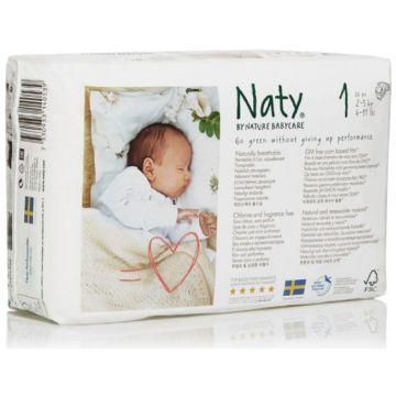 Подгузники NatyПодгузники Naty размер 1 (2-5 кг) 26 шт, в упаковке 26 шт., размер NB<br><br>Штук в упаковке: 26<br>Размер: NB
