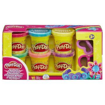 Пластилин Play-dohПластилин Play-doh Набор из 6 баночек Блестящая коллекция A5417, возраст от 3 лет<br><br>Возраст: от 3 лет
