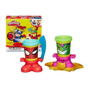 Масса для лепки Play-dohМасса для лепки Play-doh Фигурки Герои Марвел (в ассорт.) B0594, возраст от 3 лет<br><br>Возраст: от 3 лет