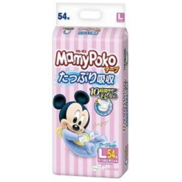 Подгузники MamyPokoПодгузники MamyPoko размер L (9-14 кг) 54 шт, в упаковке 54 шт., размер L<br><br>Штук в упаковке: 54<br>Размер: L