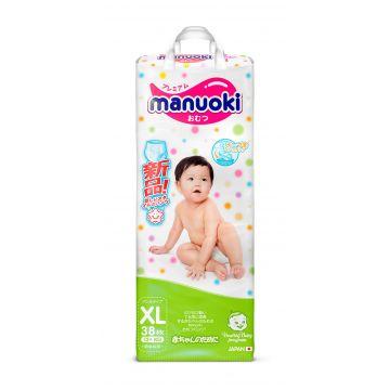 Трусики ManuokiТрусики Manuoki XL (12+ кг) 38 шт, в упаковке 38 шт., размер XL (BIG)<br><br>Штук в упаковке: 38<br>Размер: XL (BIG)