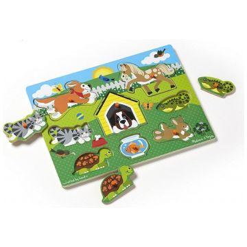 Развивающая игрушка Melissa and Doug Мои первые пазлы Домашние животные 9053