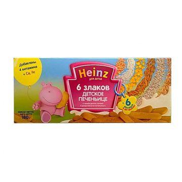 Печенье детское HeinzПеченье детское Heinz 6 злаков с 5 мес. 180 г, объем, 180л., возраст 3 ступень (6-12 мес). Проконсультируйтесь со специалистом. Для детей с 5 мес.<br><br>Объем, л.: 180<br>Возраст: 3 ступень (6-12 мес)