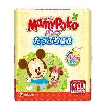 Трусики MamyPokoТрусики MamyPoko M (7-10 кг) 58 шт, в упаковке 58 шт., размер M<br><br>Штук в упаковке: 58<br>Размер: M