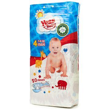 Подгузники YessBabyПодгузники YessBaby размер L (7-18 кг) 50 шт, в упаковке 50 шт., размер L<br><br>Штук в упаковке: 50<br>Размер: L