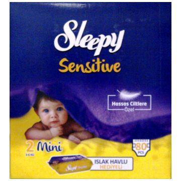 Подгузники SleepyПодгузники Sleepy размер S (3-6 кг) 80 шт, в упаковке 80 шт., размер S<br><br>Штук в упаковке: 80<br>Размер: S
