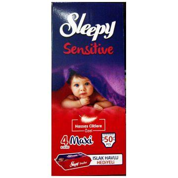 Подгузники SleepyПодгузники Sleepy размер L (7-18 кг) 50 шт, в упаковке 50 шт., размер L<br><br>Штук в упаковке: 50<br>Размер: L