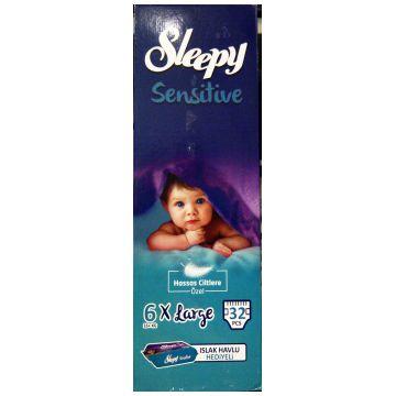 Подгузники SleepyПодгузники Sleepy размер XXL (16+ кг) 32 шт, в упаковке 32 шт., размер XXL<br><br>Штук в упаковке: 32<br>Размер: XXL