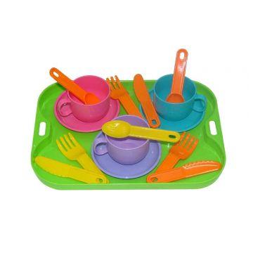 Игровой набор детской посуды ПолесьеИгровой набор детской посуды Полесье на 3 персоны 9523, возраст от 3 лет<br><br>Возраст: от 3 лет