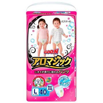 Трусики Goo.NТрусики Goo.N Aromagic L (9-14 кг) 40 шт, в упаковке 40 шт., размер L<br><br>Штук в упаковке: 40<br>Размер: L