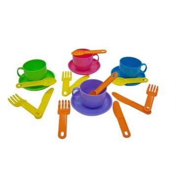 Игровой набор детской посуды ПолесьеИгровой набор детской посуды Полесье Минутка на 4 персоны 9578, возраст от 3 лет<br><br>Возраст: от 3 лет