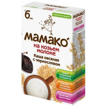 Каша Детская каша «Мамако»Каша Мамако овсяная с черносливом на козьем молоке от 6 мес. 200 г, возраст 3 ступень (6-12 мес). Проконсультируйтесь со специалистом. Для детей с 6 мес.<br><br>Возраст: 3 ступень (6-12 мес)