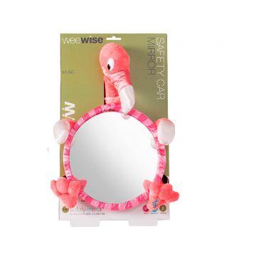 Безопасное детское зеркальце WeeWise в автомобиль Фламинго 30111