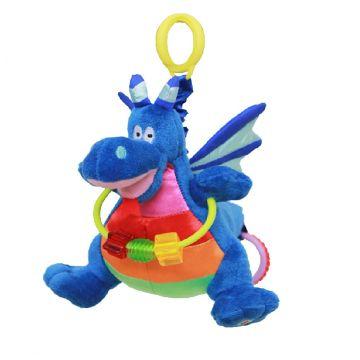 Подвесная игрушка WeeWiseПодвесная игрушка WeeWise Дракон Джеки 20113, возраст от 0 месяцев<br><br>Возраст: от 0 месяцев