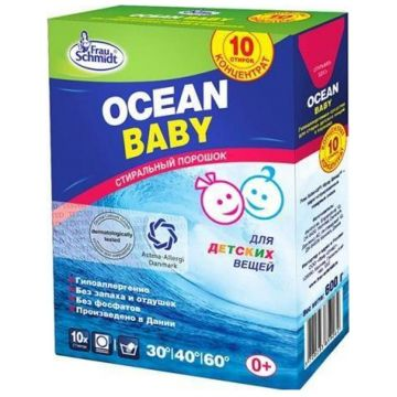 Стиральный порошок Frau SchmidtСтиральный порошок Frau Schmidt Ocean baby для детских вещей гипоаллергенный 600 г<br>