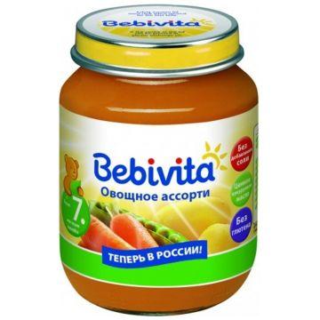 Детское пюре BebivitaДетское пюре Bebivita Овощное ассорти с 7 мес. 100 г, возраст 3 ступень (6-12 мес). Проконсультируйтесь со специалистом. Для детей с 7 мес.<br><br>Возраст: 3 ступень (6-12 мес)