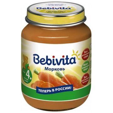 Детское пюре BebivitaДетское пюре Bebivita Морковь с 4 мес. 100 г, возраст 2 ступень (3-6 мес). Проконсультируйтесь со специалистом. Для детей с 4 мес.<br><br>Возраст: 2 ступень (3-6 мес)