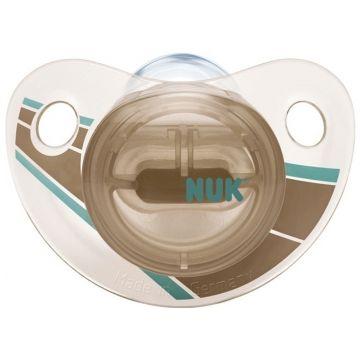 Пустышка NukПустышка Nuk Trendline Adore ортодонтическая силикон р. 1 с рождения<br>