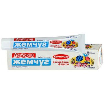 Зубная паста для детей Новый жемчугЗубная паста для детей Новый жемчуг Волшебные фрукты 50 мл<br>